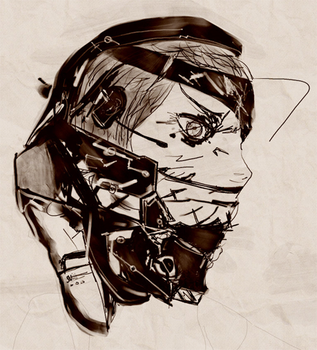 [WIP] CYBORG SNIPER WOLF by Synceed