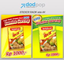 sticker racik size A4 by dodpop