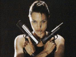 Tomb Raider Photo Mosaic by whendt