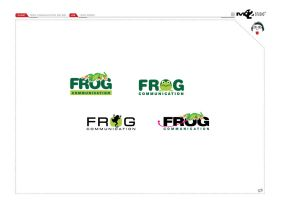 Logo Design frog Communication by mushroomstick2