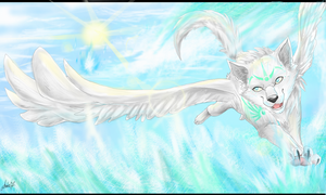 Over The Ocean by Amirah-the-cat
