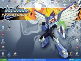 MegaMan SF Pegasus Desktop by dragontamer272