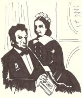 Abraham Lincoln and Wife by Gat0rl1veBEATZ