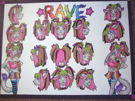 Character Development - Rave by Trixel