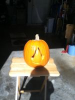 My Assassin's Creed Pumpkin by damnedwithwolves