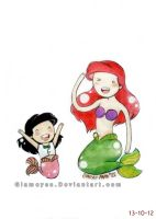 Ariel and Melody by Glameyes