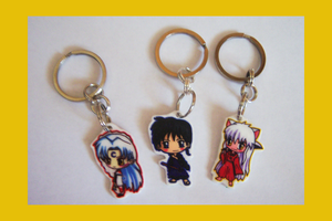 Inuyasha Chibi Charm Keychains by IcyPanther1
