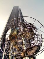 In front of Columbus Circle metro station - NYC by digitalminded