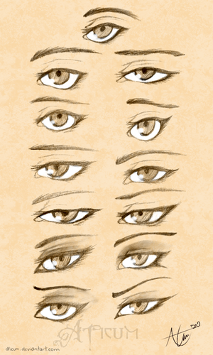 Female Eyes Study by Aticum