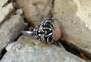 Ring Cortes, silver sterling, opal 1 by honeypunk