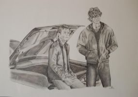 Supernatural: Sam and Dean by novemberstar88