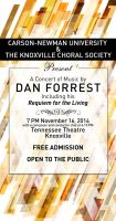 Poster for a Concert of Music by Dan Forrest by ValencyGraphics