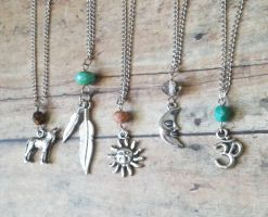 Bohemian Gypsy Charm Necklaces // Pick one by QueenofJackals