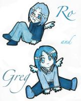 Chibi Ro and Greg in Blue by laiquendi-elf