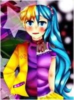 Kagamine and Hatsune [UPDATE] by desidestia