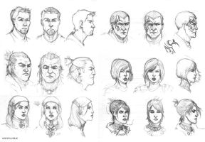 Dragon Age characters by Ignifero