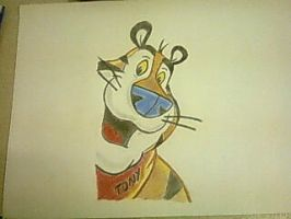 A drawing of a tiger by lilminx29