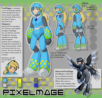 PixelMage Reference Sheet by PixelMecha