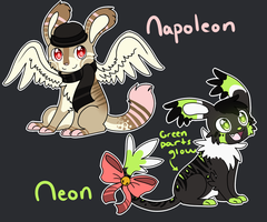 Napoleon and Neon Adoptables :CLOSED: by Darkaiya