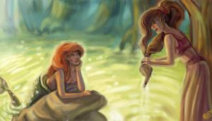 How Meg met Ariel by DreamyArtistRoxy3