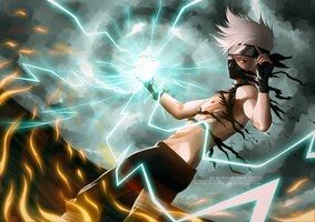 Shirtless Ninja: Hatake Kakashi by goyong