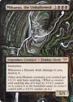 Magic Card Alterations: Mikaeus, the Unhallowed by Ondal-the-Fool