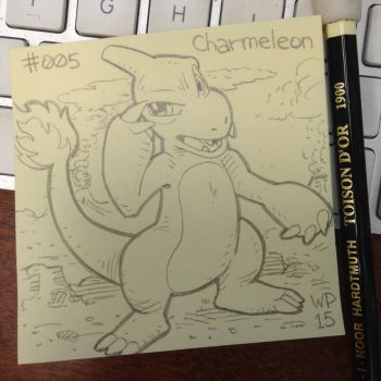 Post-It Note Pokemon #005 Charmeleon by WillPetrey
