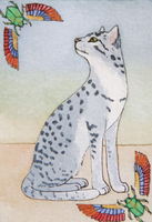 ACEO Egyptian Mau by DarkGrungeWolf