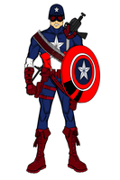 Captain America Redesign by 127thlegion