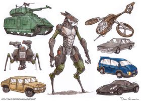Sketch Dump - Vehicles and robots 2 by davi-escorsin