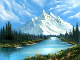 Bob Ross Tribute by cocco91