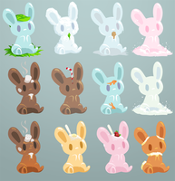 Liquid Bunnies by binoftrash