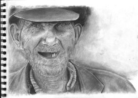 Old man's portrait by ikorolkov