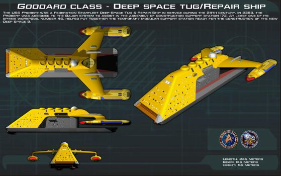 Goddard-class Deep space tug ortho [New] by unusualsuspex