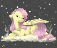 flutter in snow by ahmonaeatchu123
