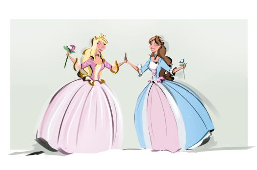 Barbie as the Princess and the pauper by didouchafik