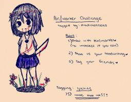 The Pen / Marker Challenge :P by IDKismyname