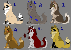 Wolf Adoptables 20: CLOSED by Manic10974