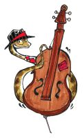 Snake on Bass by Foxi-Loxy