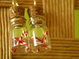 Candy Canes - earrings by Flocature