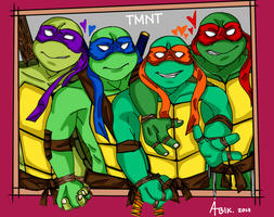 Crowded Turtles by AstroBlacke