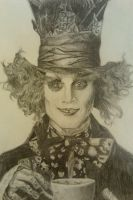 Johnny Depp as The Mad Hatter by Aceosa