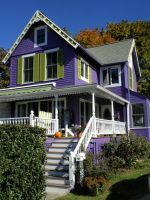 The Purple House of Guilford by davincipoppalag