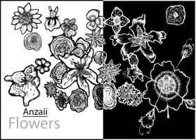 Hand Drawn Flower Brushes by Anzaii