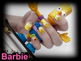 The Simpsons Nails by BarbieNailArt