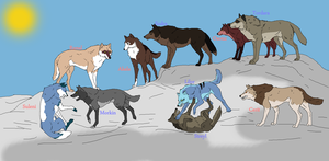 Wolf Breed Pack no. 1 by PhlegmaticBreedables