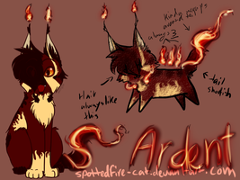 -Ardent Ref- by Spottedfire-cat
