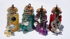Outer Senshi Bottled Power Necklaces by KouranKiyo