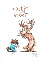 Rocket And Groot by Meador