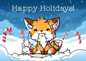 151202 Happy Holidays from Little Fox and Bun by fablefire